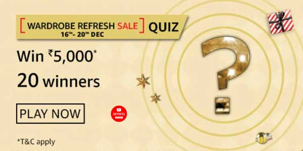Amazon Wardrobe Refresh Sale Quiz Answers