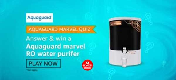 Amazon Aquaguard Marvel Quiz Answers